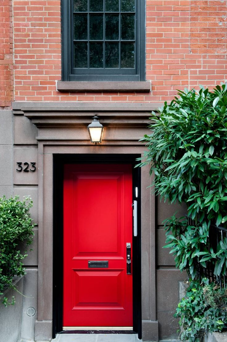 Chelsea Townhouse By David Howell Design  C B Red Front Doorsred