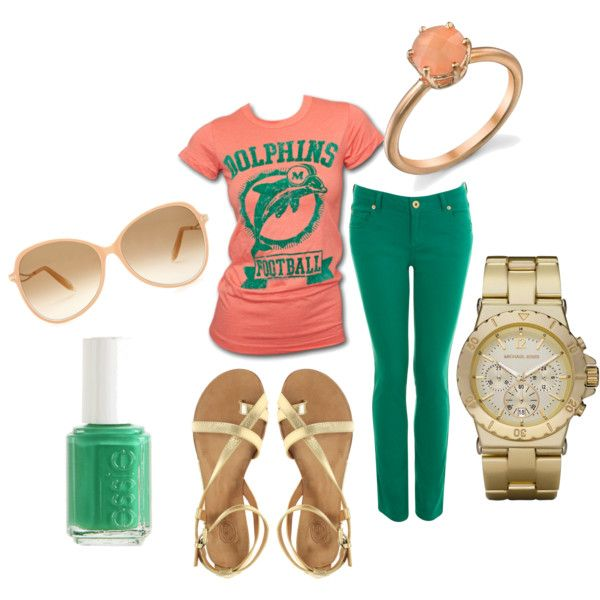miami dolphins, created by #jay-bird11 on #polyvore. #fashion #style Junk Food Clothing Miss Selfridge