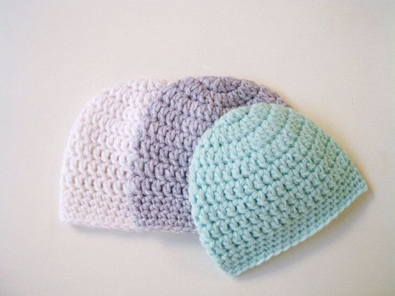Boy newborn hat Crochet baby hat Hospital baby boy by prettyobject