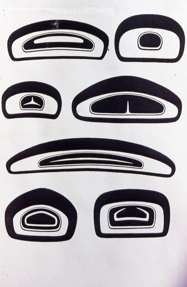 """The single most characteristic shape in all of Northwest Coast style art is the ovoid and these are some of it's variations, there are many more. They all follow the same rules effectively described by Bill Holm in his landmark book """"Northwest Coast Indian Art: an analysis of form"""", 1965.  via Barry Herem FB"""