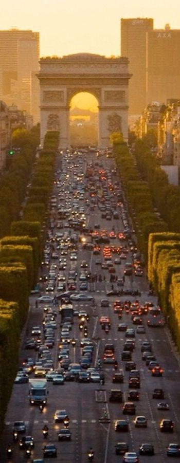 Champs-Élysées, Paris. Word of caution. Take the metro, parking is pain in the ass.