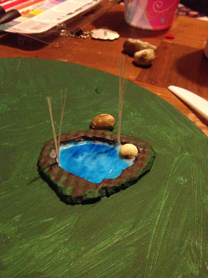 The pool of the WIP forest terrain.