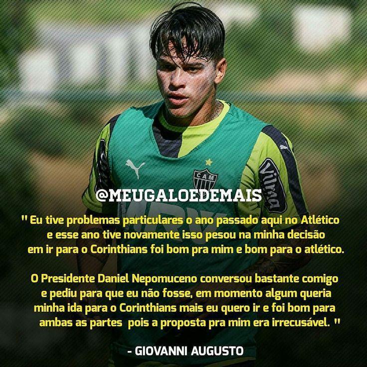 """Ta aí um trecho da entrevista de despedida de Giovanni Augusto onde ele """"explica"""" o que mais pesou para aceitar a proposta do Corinthians. #Galo _____________________________________ Créditos - @Meugaloedemais Siga - @Noticiadogalo @Vamugalo_ @Instatleticanas #Galohojeesempre Boa tarde nação alvinegra! _____________________________ by galohojeesempre"""