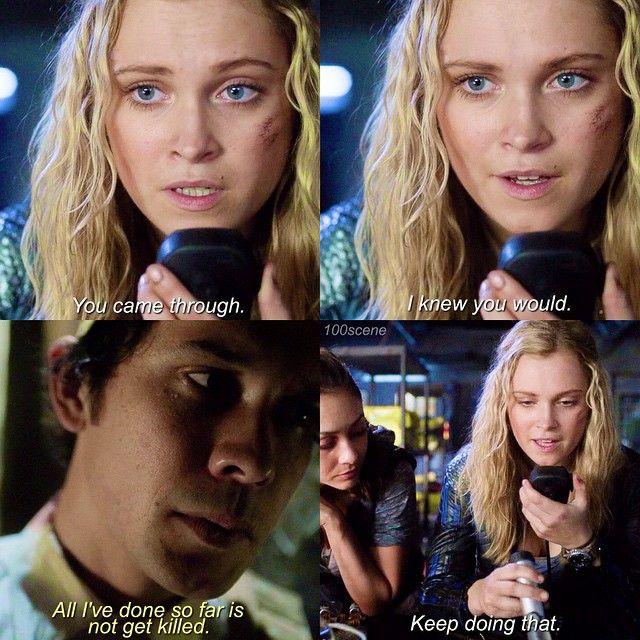 "#The100 2x11 ""Coup de Grace"" - Clarke and Bellamy"