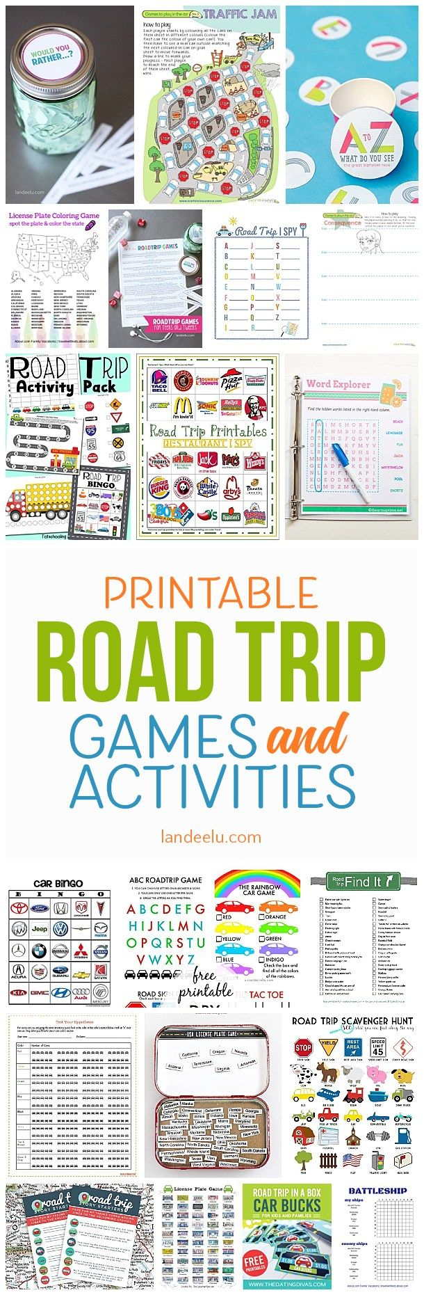 A TON of awesome printable car games for kids! So easy to print and entertain your family with these fun road trip games everyone will love!