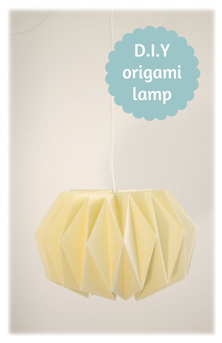 Weekend D.i.Y - Origami lampenkap. How to fold a paper origami lampshade. tutorial #origami #lamp #lampshade #paper #papier #lampenkap