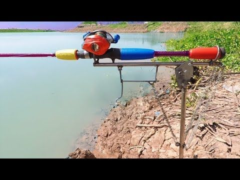 How to Make Automatic Fishing Rod Holder - Automatic Rod Holder. Fishing for Carp! 89 - YouTube