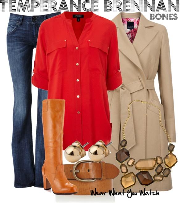 Inspired by Emily Deschanel as Dr. Temperance Brennan on Bones.