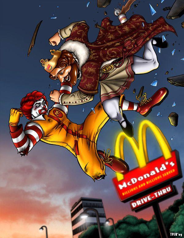 La eterna guerra enter Mc Donald's y Burger King