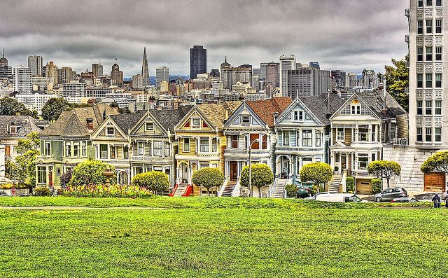 """Painted Ladies or """"The Seven Sisters"""" on Steiner St. 