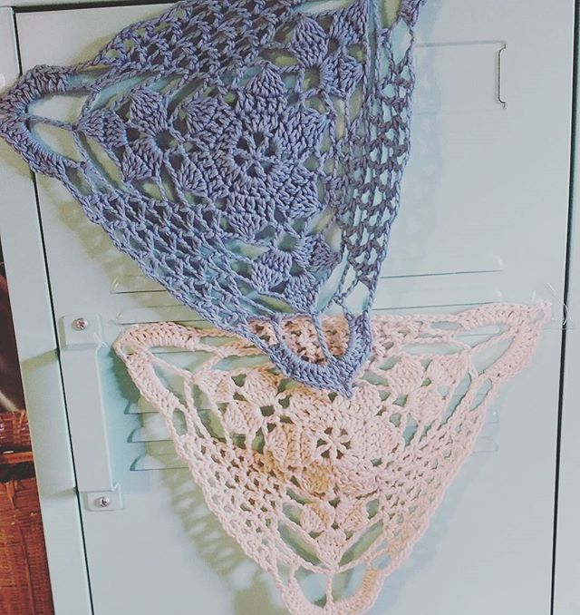 how to make doily bunting