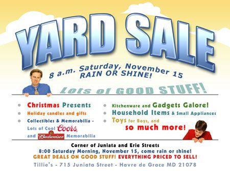 garage sale flyers free templates