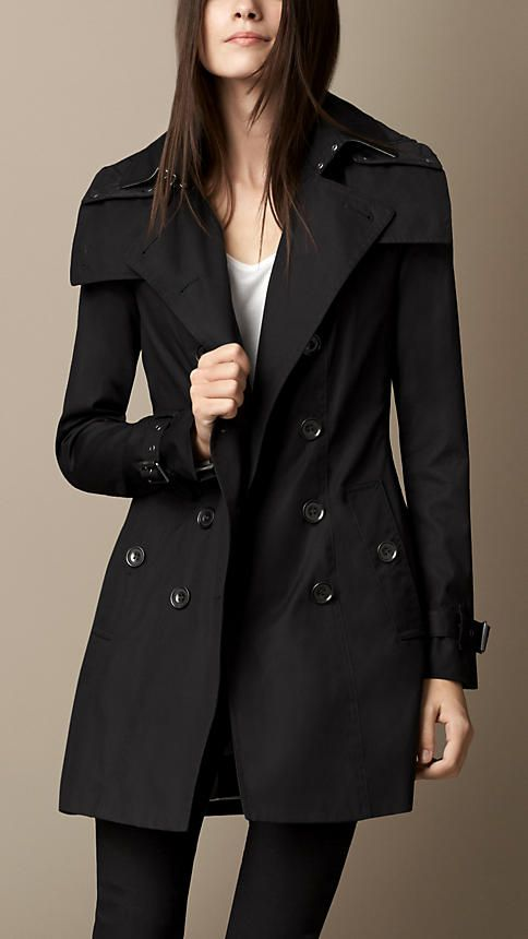 midlength hooded trench coat with warmer burberry - Burberry Raincoat