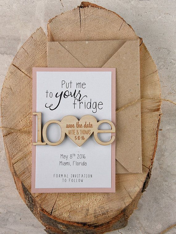 rustic magnets save the dates Customization: Colors and wording can be changed to coordinate with your event. The save the date includes: (1)