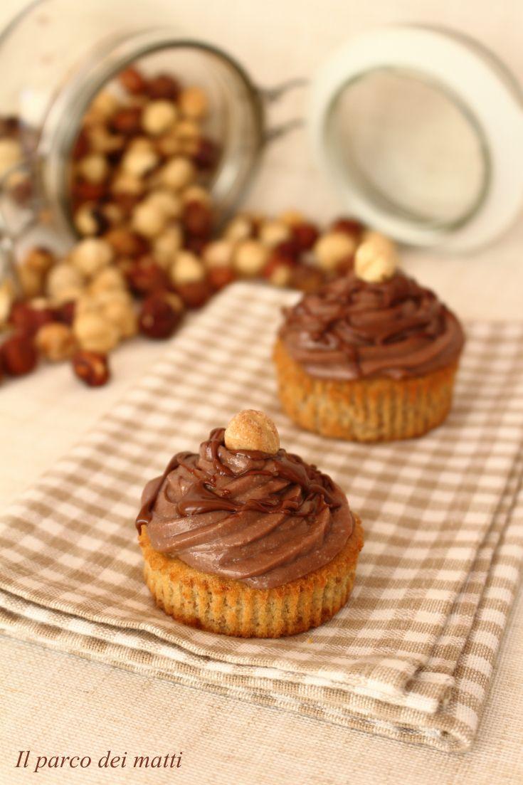 Cupcake di farro con glassa alla Nutella