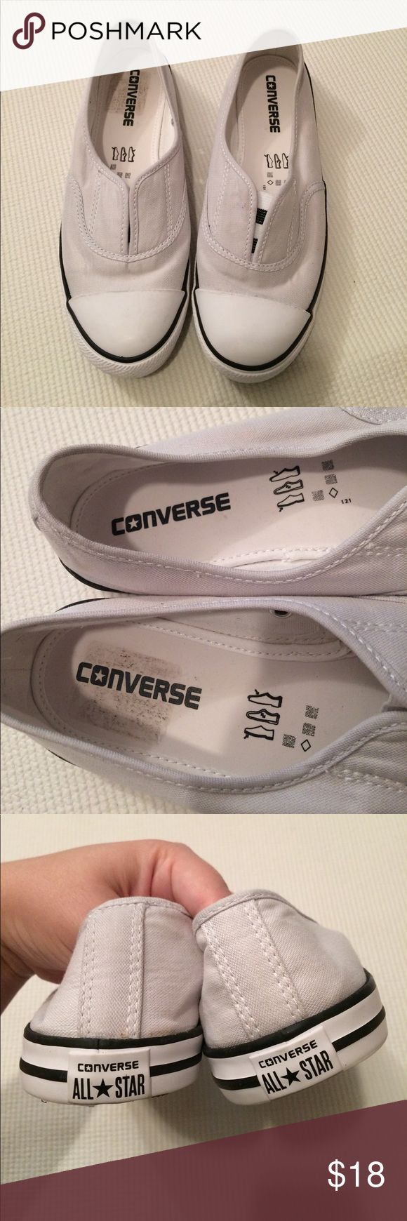 """$15 nwot converse slip on shoes Nwot. ✔The price in the beginning of the title of my listings is the bundle price. These prices are valid through the """"make an offer"""" feature after you create a bundle. These bundle orders must be over $15. Ask me about more details if interested.  ❌No trades ❌No holds Converse Shoes Sneakers"""