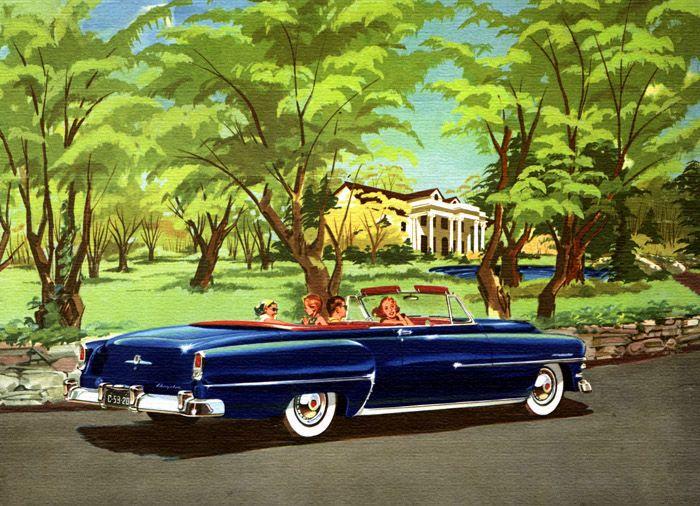 Plan59 :: Classic Car Art :: Vintage Ads :: 1953 Chrysler Windsor