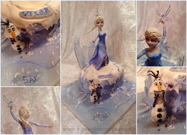 Elsa Disney Cake. Trucolor Natural foodcolors - isomalt - saracino modelling paste - royal icing .