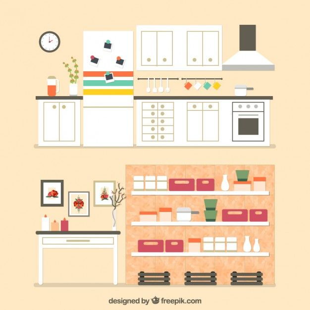 Home furniture Free Vector