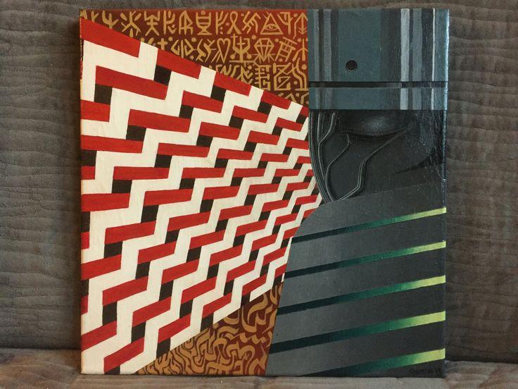 """Franciszek Grzesiak, """"Sen 1"""", 40x40 cm, acrylic on canvas"""