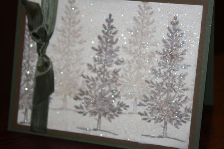 Stampin Up Christmas Cards with dryer sheet | Lovely As A Tree- Dryer Sheet Technique : MICHELLE's Blog