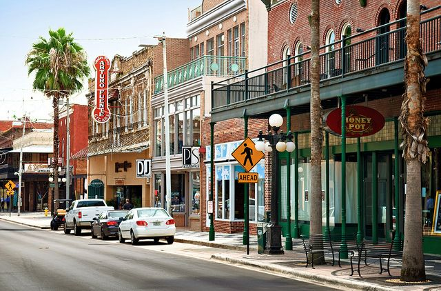East Seventh Avenue, Ybor City, Tampa, Florida by lumierefl, via Flickr---- Fantastic shopping, beautiful New Orleans Style architecture, & yummy Cuban sandwiches & cigars!