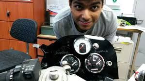 Ayush with his custom-made dashboard for FWı