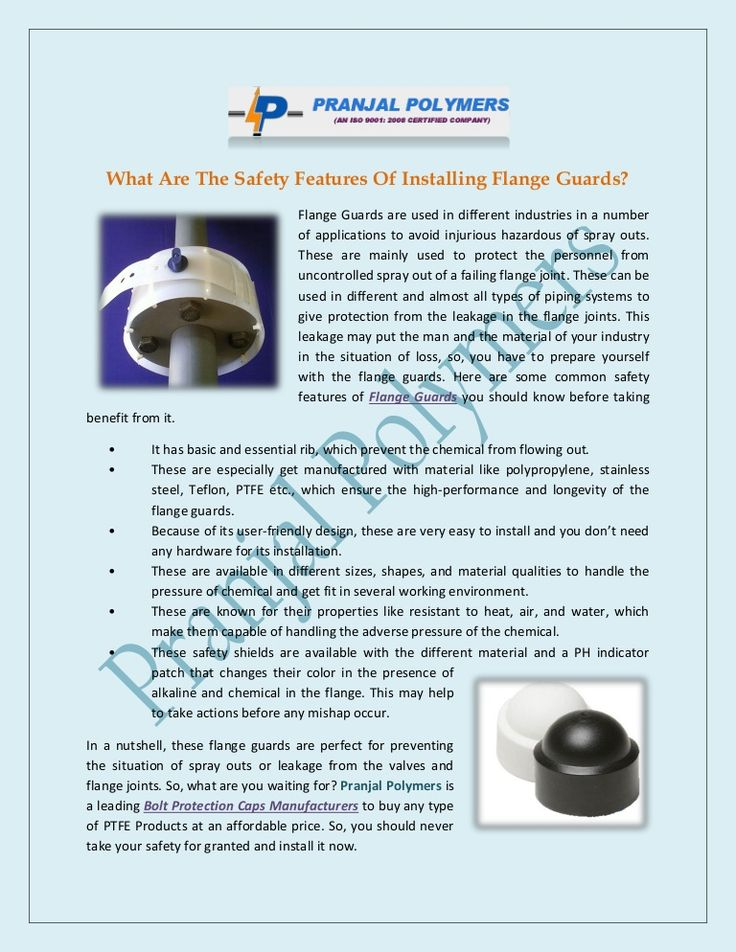 What Are the Safety Features of Installing Flange Guards