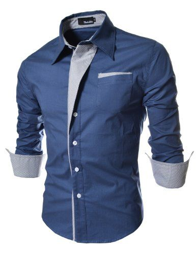 TheLees Mens Casual Long Sleeve Stripe Patched Fitted Dress Shirts Blue Medium(US X-Small) TheLees,http://www.amazon.com/dp/B00CBEAVSE/ref=cm_sw_r_pi_dp_JotGsb02N7MKBKN9