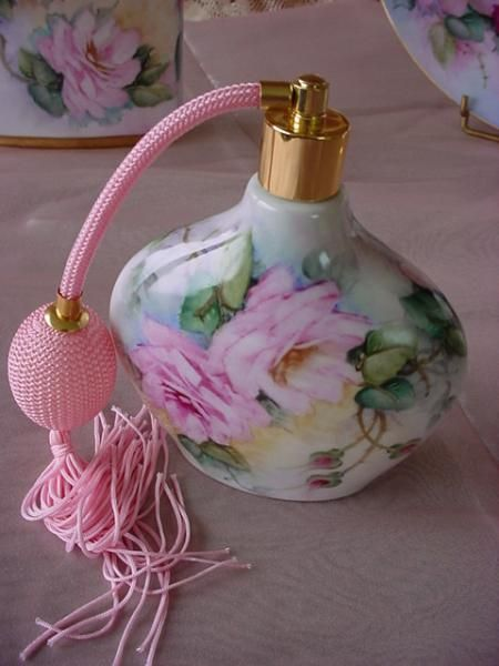 Hand Painted Porcelain Perfume Atomizer
