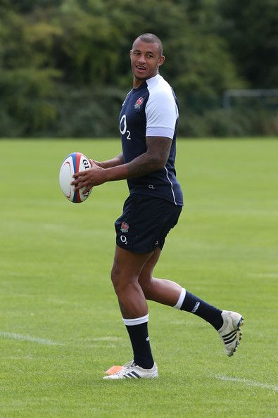 Courtney Lawes of England in action during the England training session at Loughborough University on August 12, 2013 in Loughborough, England.