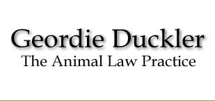 Geordie Duckler - Animal Law Practice  Dr. Geordie Duckler operates The Animal Law Practice, a law firm unique in the West Coast that assists those confronted by, and seeking to resolve, all variety of animal-related legal issues: