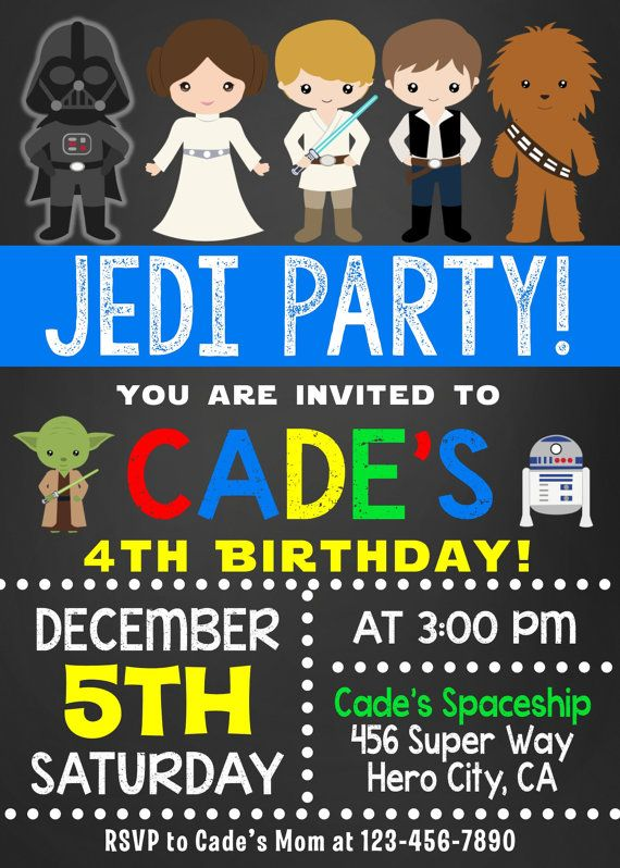 Star Wars Invitation Star Wars Birthday by maoPartyPrintables