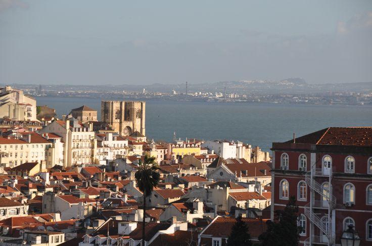 Lisbon's Dark Red Rooftops