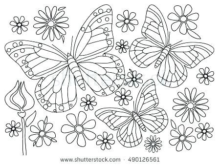 Coloring Pages Of Flowers And Hearts Coloring Page Flowers Coloring ...