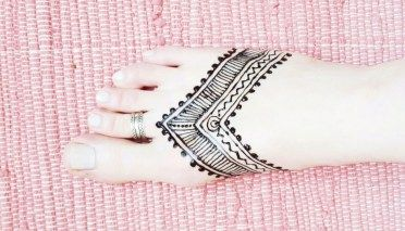 HENNA | Tribal Tattoo am Fuß selbermachen