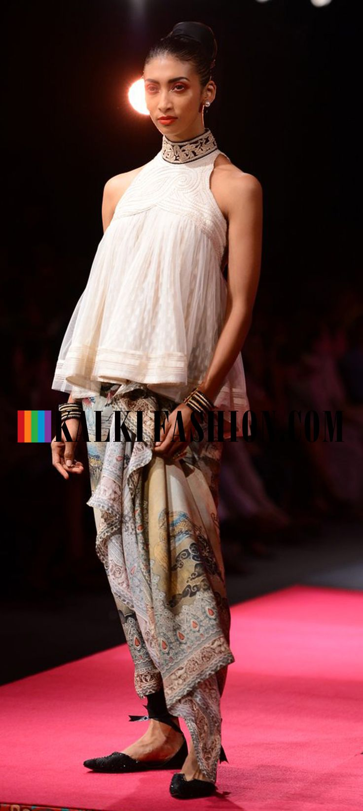 Models showcasing Tarun Tahiliani's collection at Wills Lifestyle Fashion Week http://www.kalkifashion.com/designers/tarun-tahiliani.html