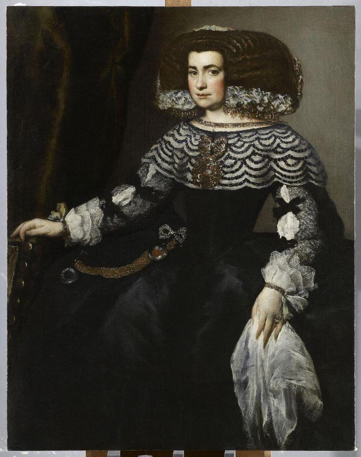 Portrait de femme de la COur d'Espagne par Juan Bautista Martinez del Mazo Elève de Velasquez
