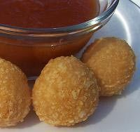 Cheese Ball Recipe - Bolitas de Queso - Fried Cheese Balls Recipe with Guava Dipping Sauce