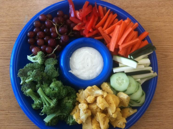 Rainbow fresh food platter