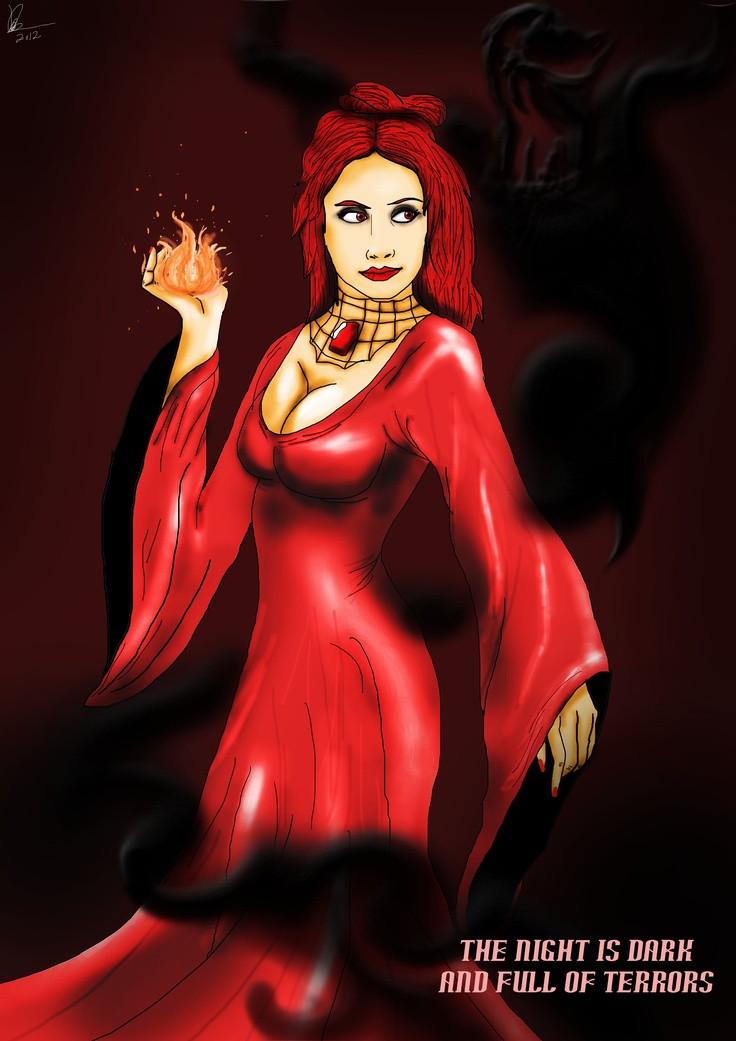 Game Of Thrones Character Card 4,Melisandre Of Asshai with her Shadow.Enjoy