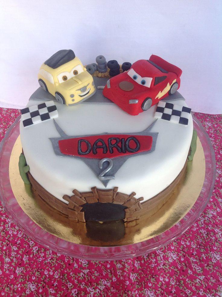 Lightening McQueen fondant cake