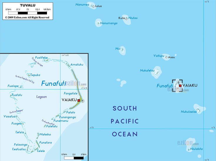 Map of Tuvalu and Tuvalu Map