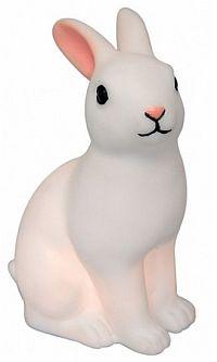 hip en handig nachtlampje voor in de kinderkamer. Dit konijntje is van plastic in wit met roze oortjes en bevat 3 knoopbatterijen.   @dreumesenzo