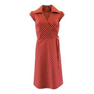 Image of Rød slå om kjole