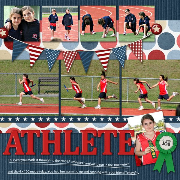 Great page by Kirstie | Stars & Stripes Kit
