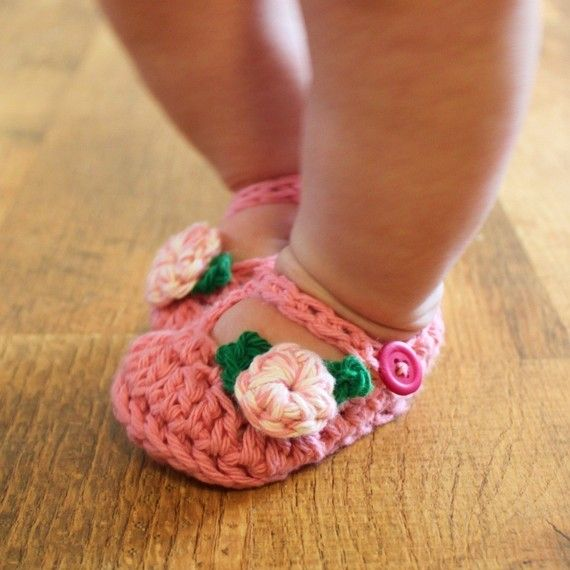 crocheted mary janes.