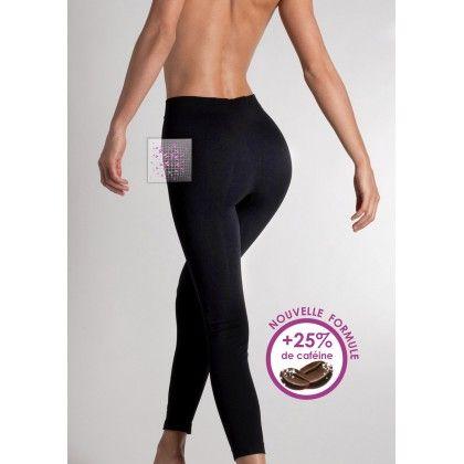 Legging Concentré Minceur Plus Noir - Lytess - Elégant, pratique et discret, ce legging épouse et affine parfaitement votre silhouette grâce à la combinaison innovante d'un tricotage « seconde peau » et de cosmétique minceur. 49,90€