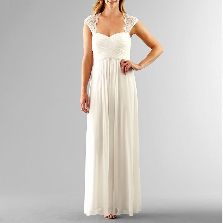 Jcpenney Casual Wedding Dresses White Lace Gown Lace White Dress White Evening Gowns
