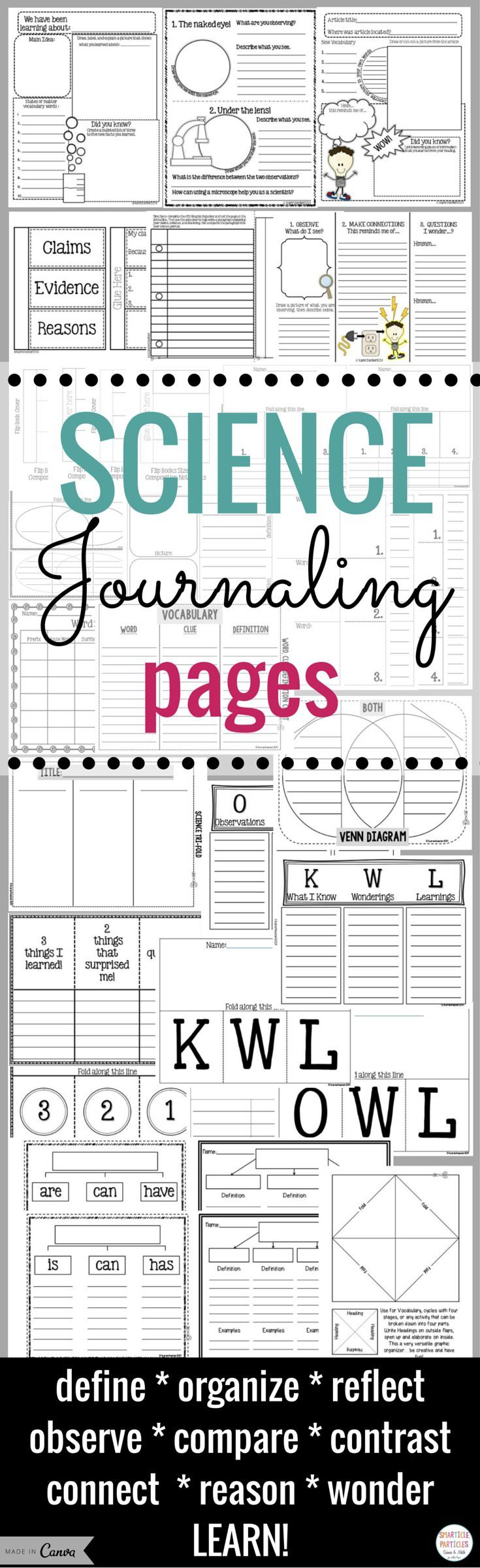 Drawing diagrams in pages - Interactive Notebook Science Journaling Pages